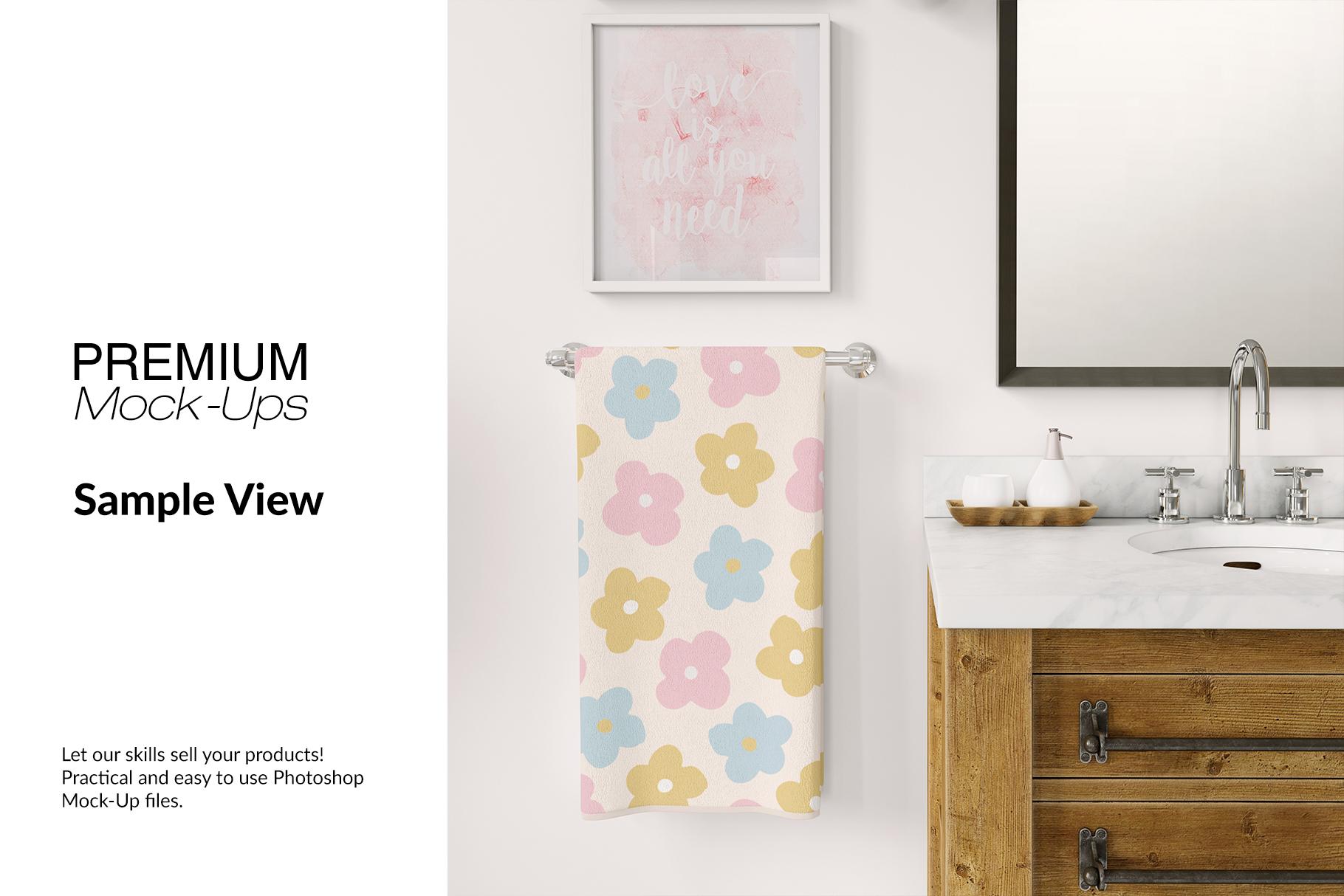 Bath Towels Mockup Set example image 12