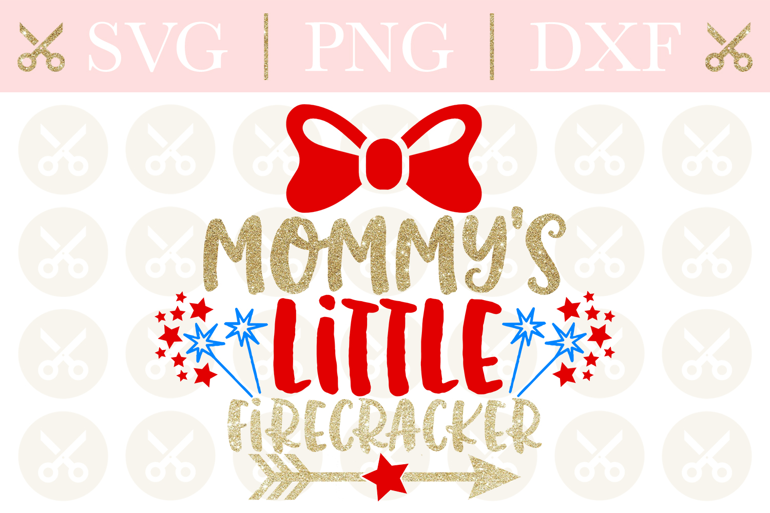 4th Of July Svg Mommy's Little Firecracker Svg Cutting File example image 1