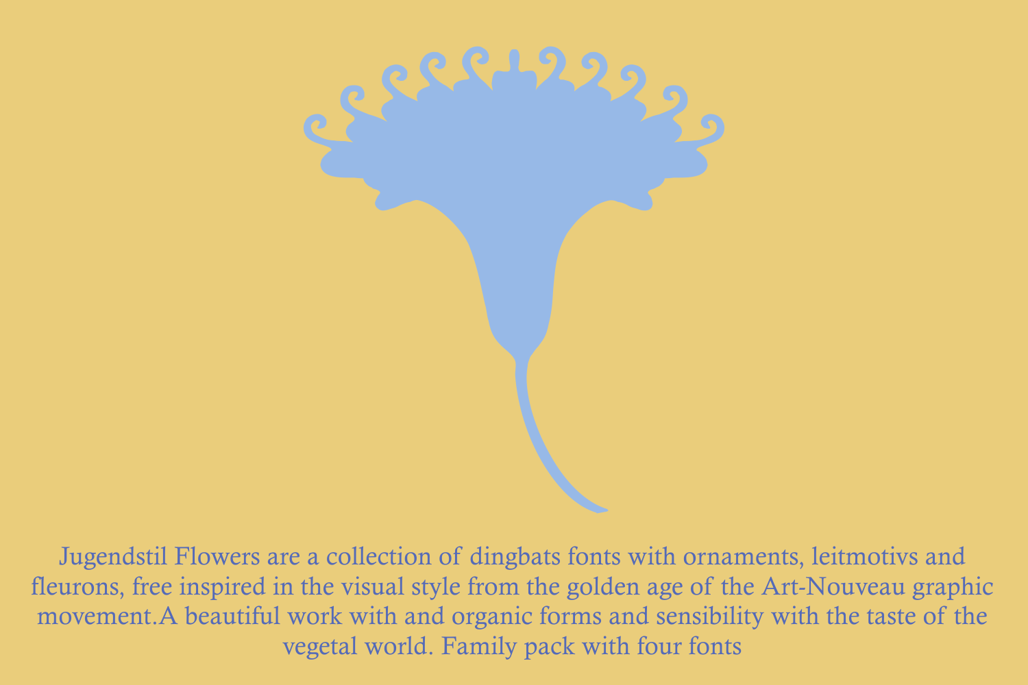 Jugendstil Flowers (family pack) example image 4