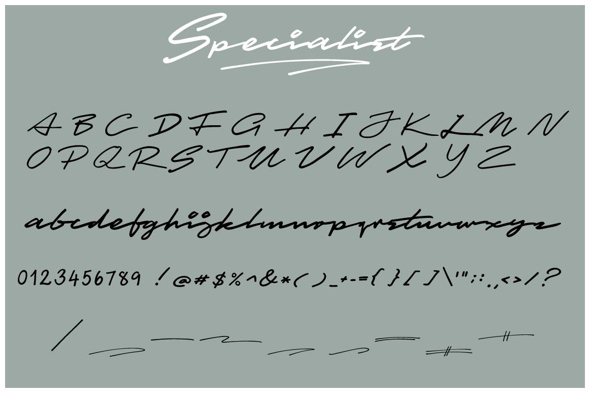 Specialist Handwritten Font example image 3