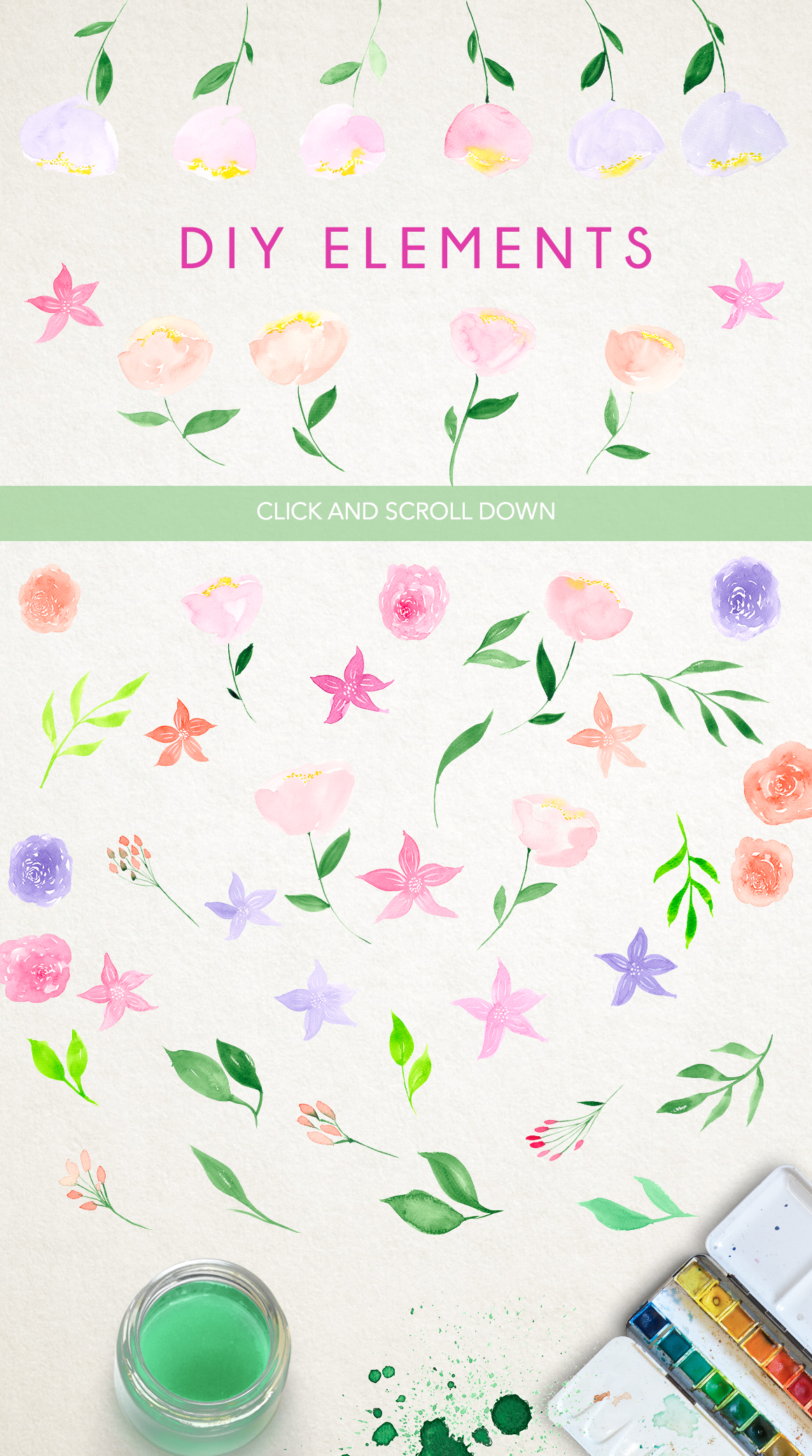 Watercolor fresh spring floral example image 6