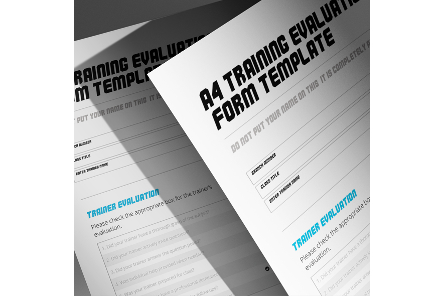 A4 Training Evaluation Form example image 4