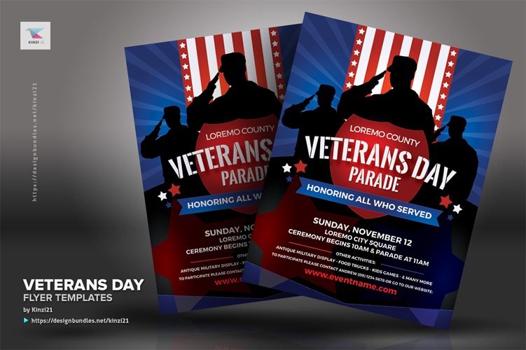 Veterans Day Flyer Templates example image 4
