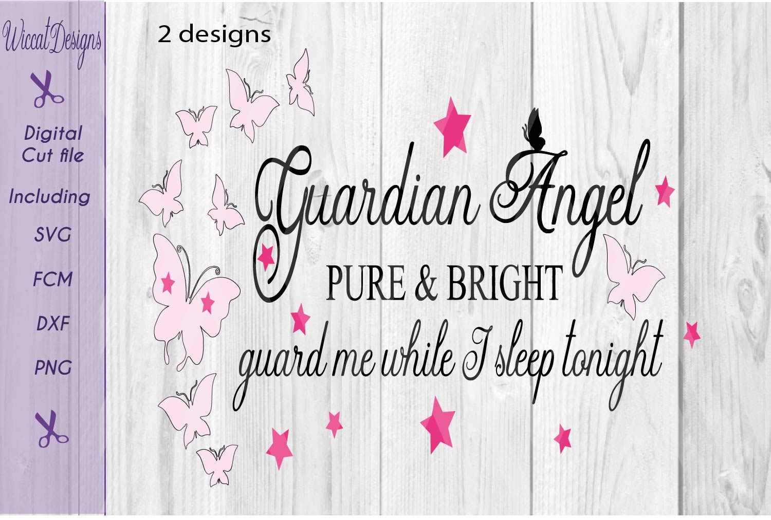 Guardian angel svg, Angel quote, Nursery wall svg, example image 2