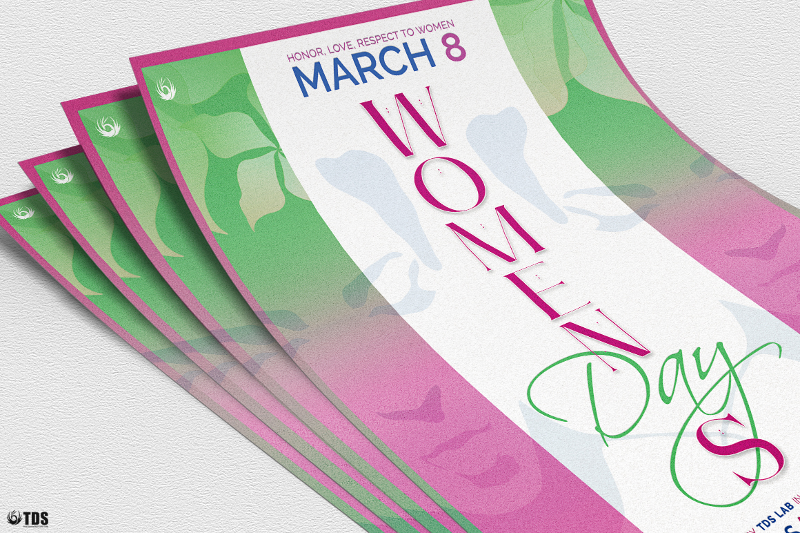 Womens Day Flyer Template V2 example image 5