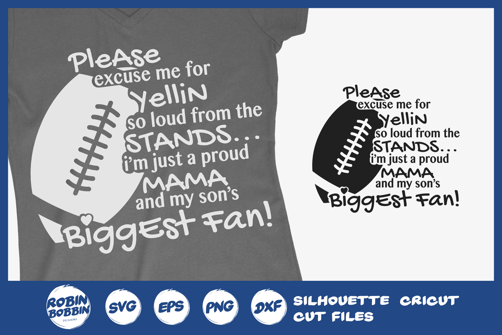 Football Mom SVG - Biggest Fun SVG example image 1