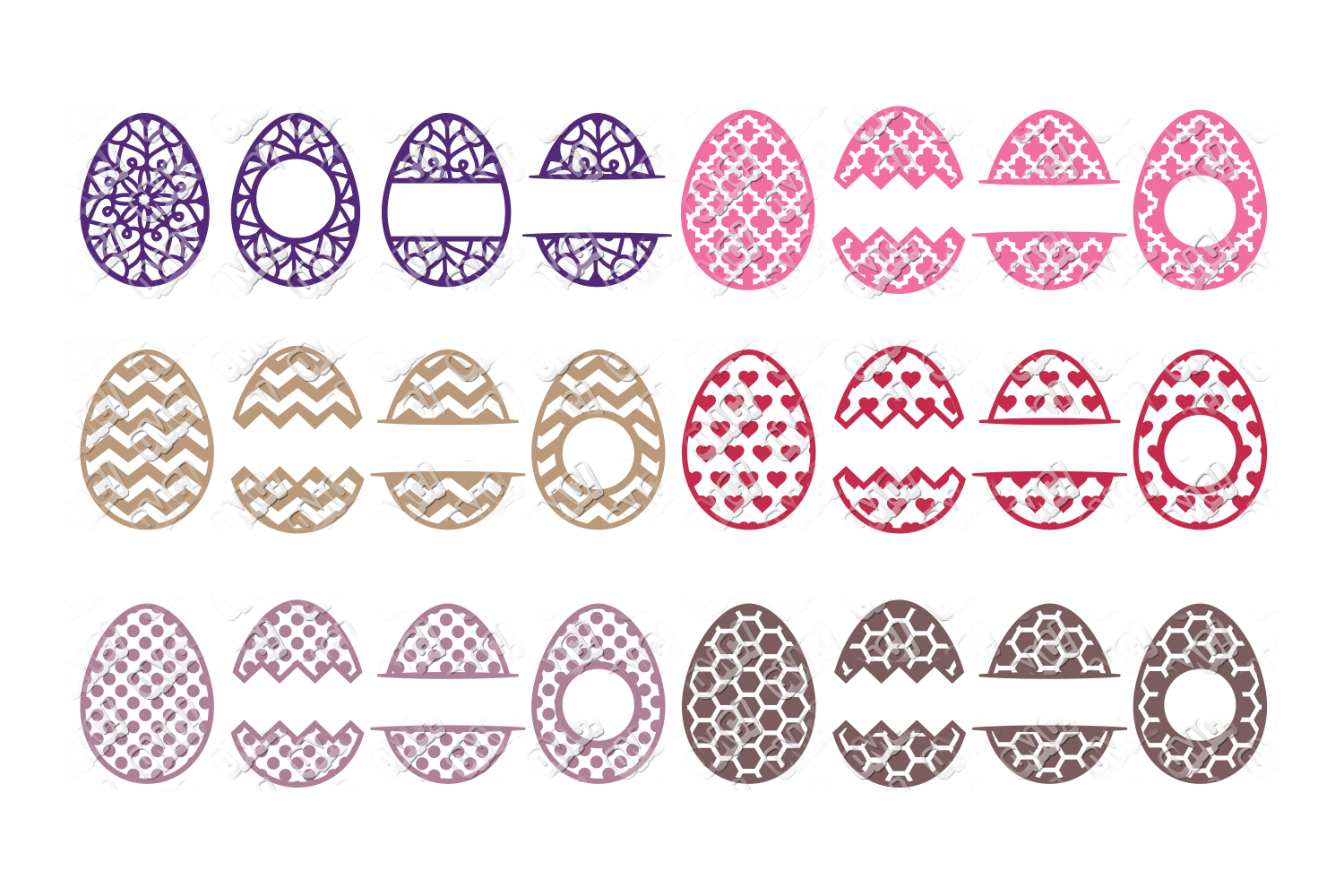 Easter Egg SVG Monogram Quotes in SVG, DXF, PNG, EPS, JPEG example image 5