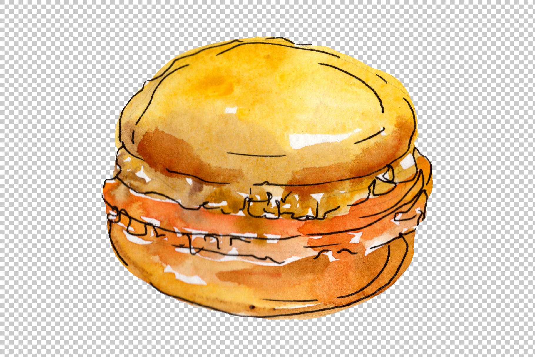 Dessert Provence Watercolor png example image 5