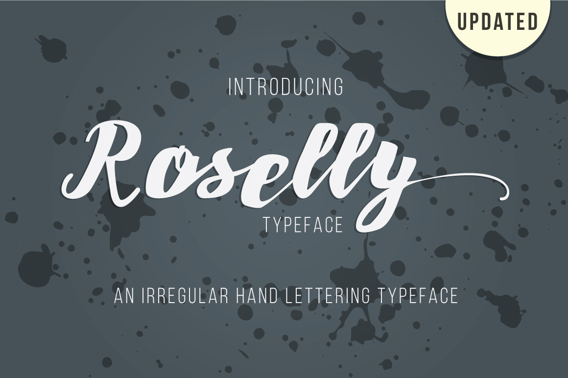 roselly Font example image 3