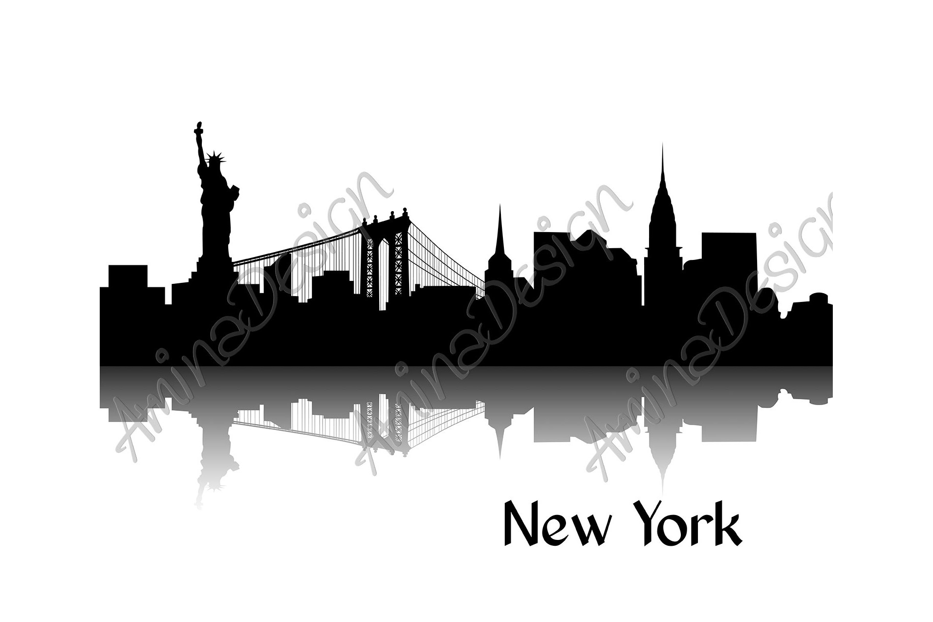 Silhouette of New York example image 3