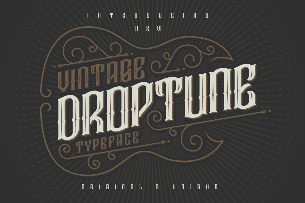 Droptune typeface example image 1