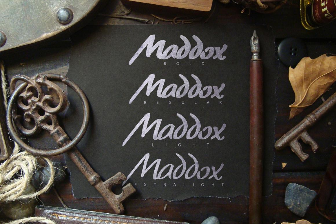 Maddox Hand Brush Typeface example image 3