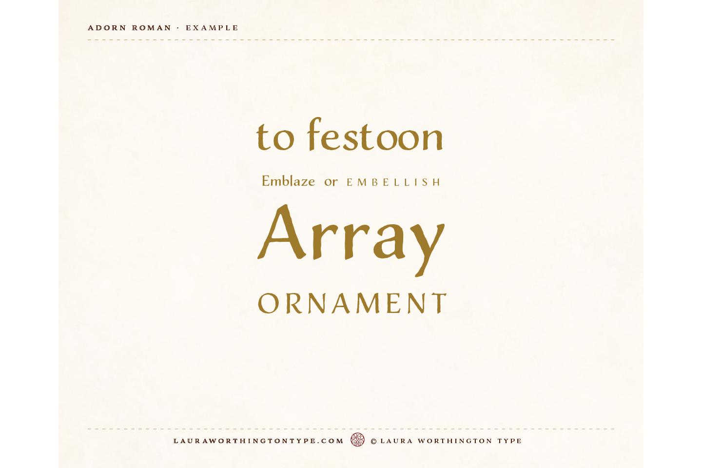 Adorn Roman example image 5
