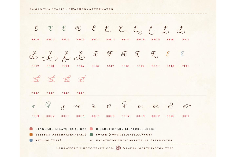 Samantha Script Italic example image 16