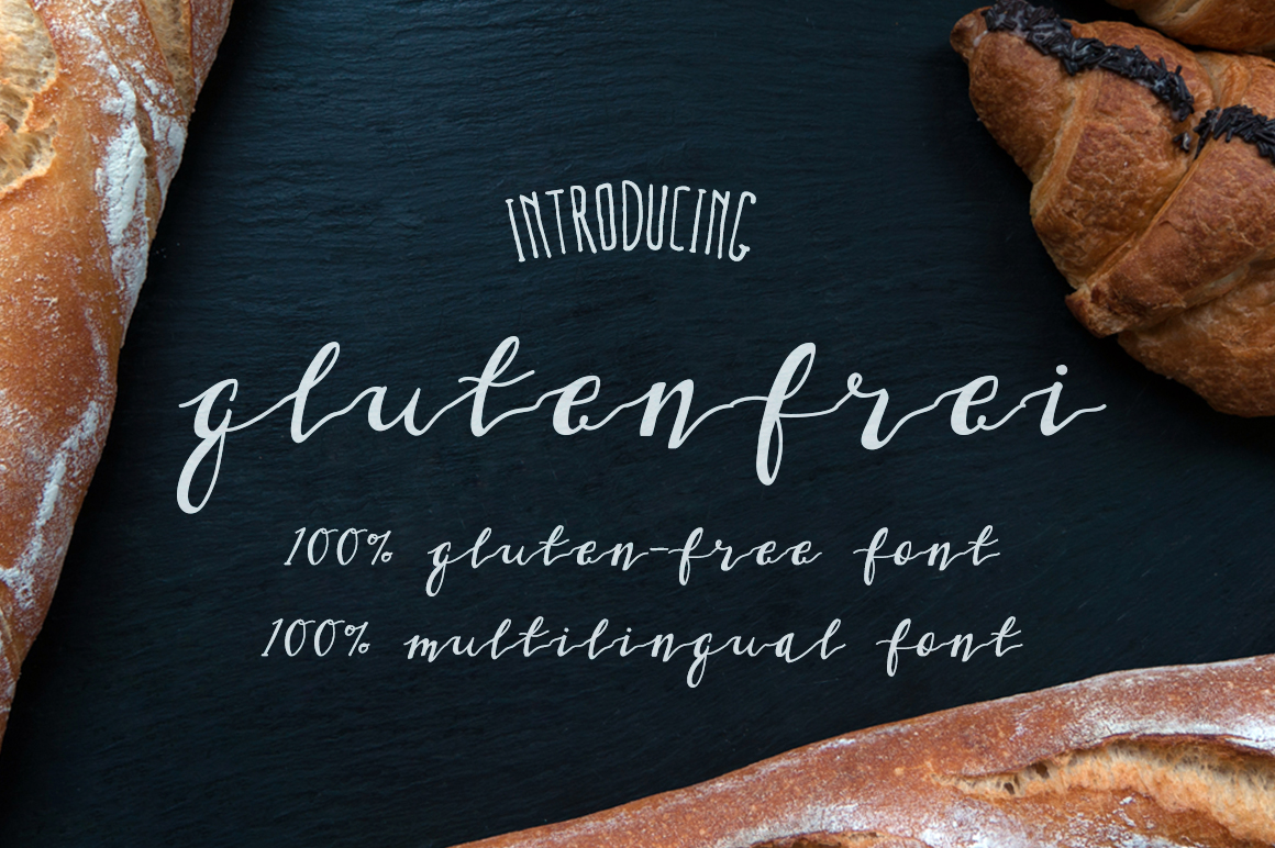 Gluten Frei Multilingual Script Font example image 2