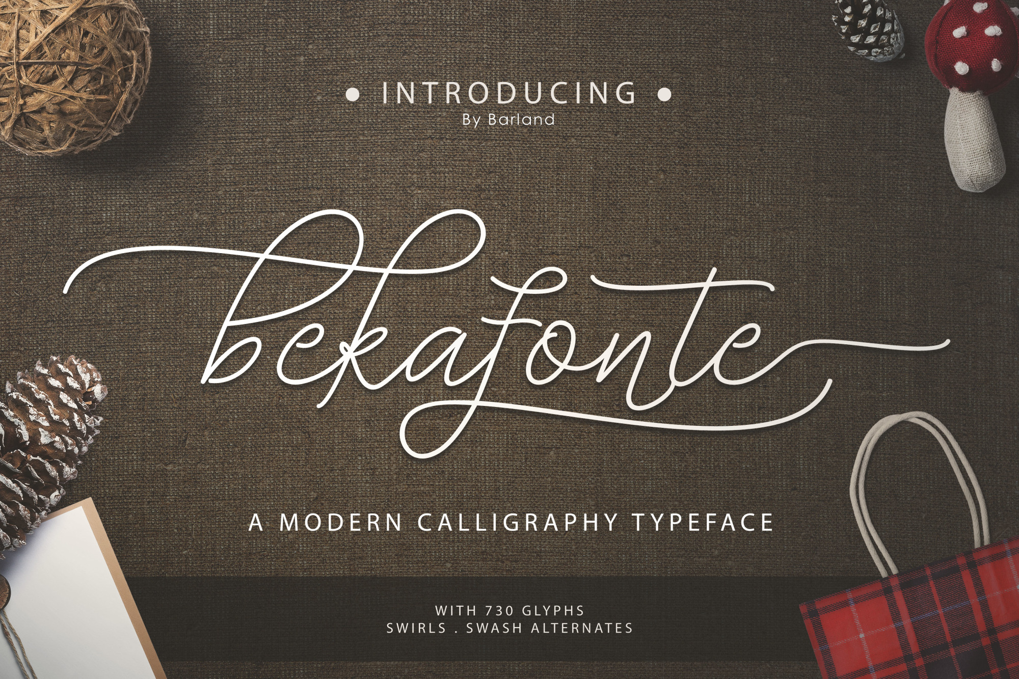 Bekafonte Typeface - New Update example image 1