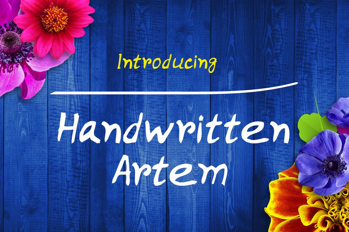 Handwritten Artem example image 1