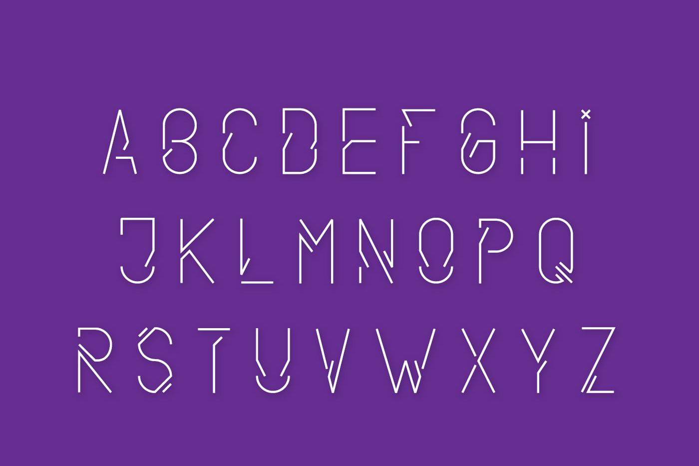 Nova display typeface example image 3