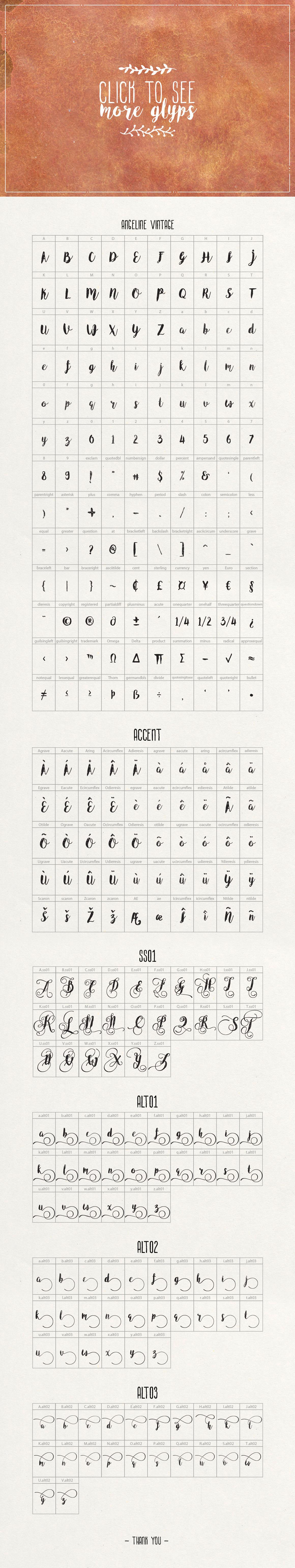 Angeline Font + SWASHES example image 3