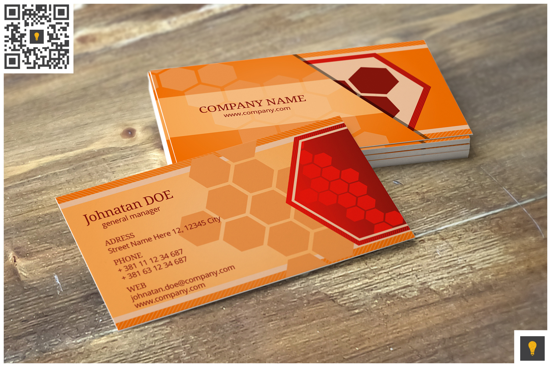 Hive Corporate Business Card Orange