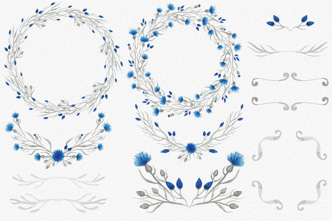 Blue flower _Wedding collection_ example image 6