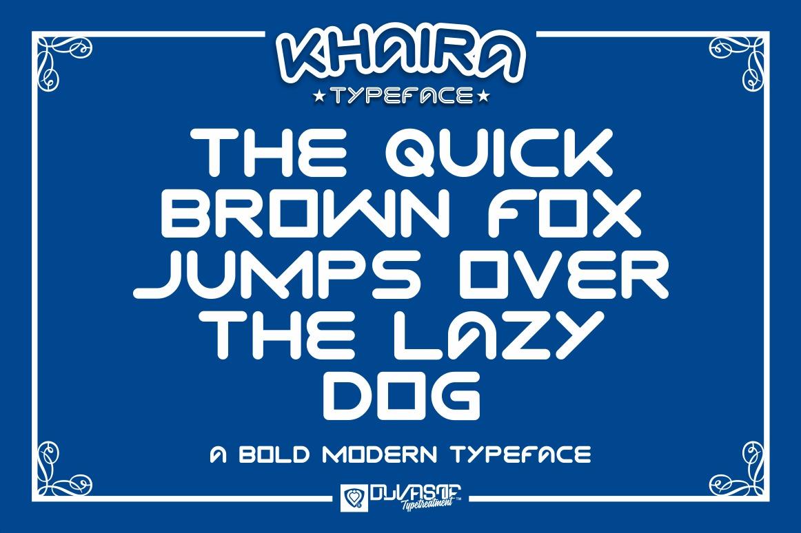 KHAIRA TYPEFACE example image 8