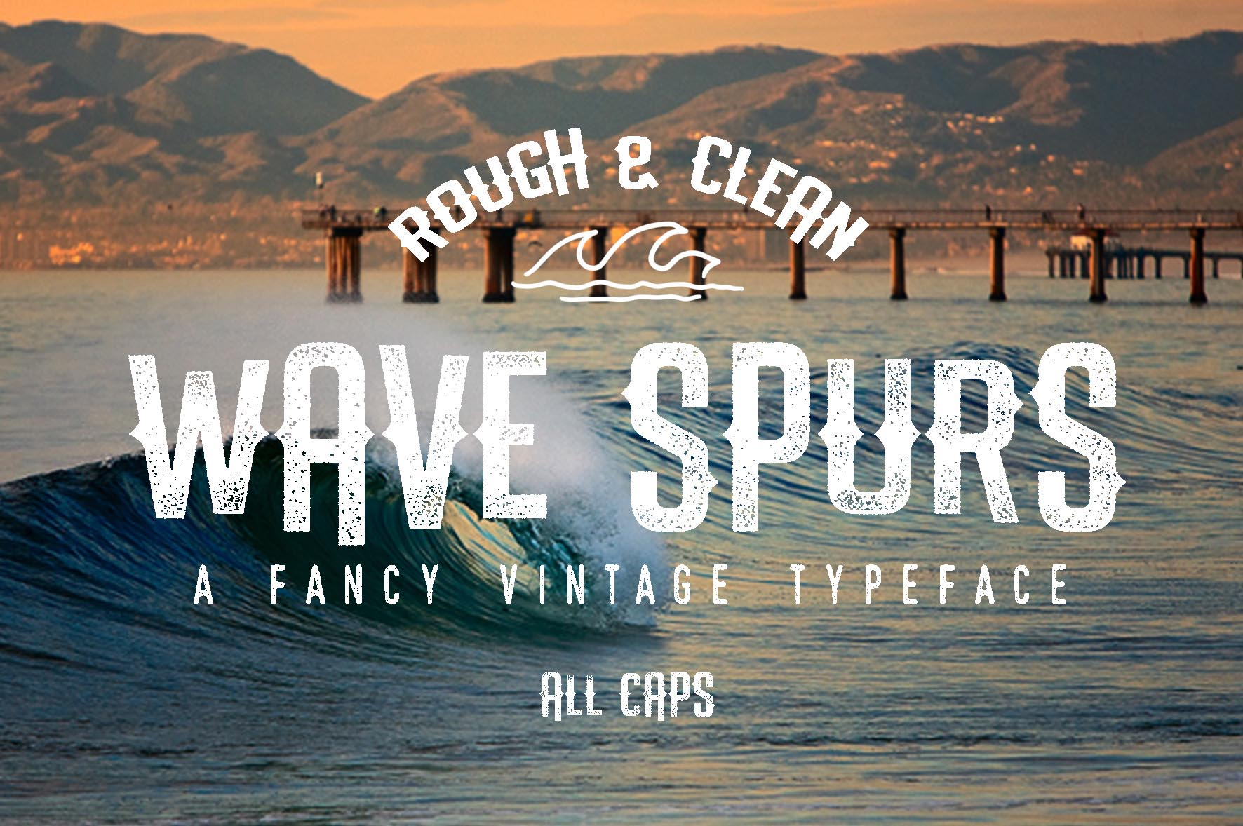 The Wave Spurs Typeface example 1