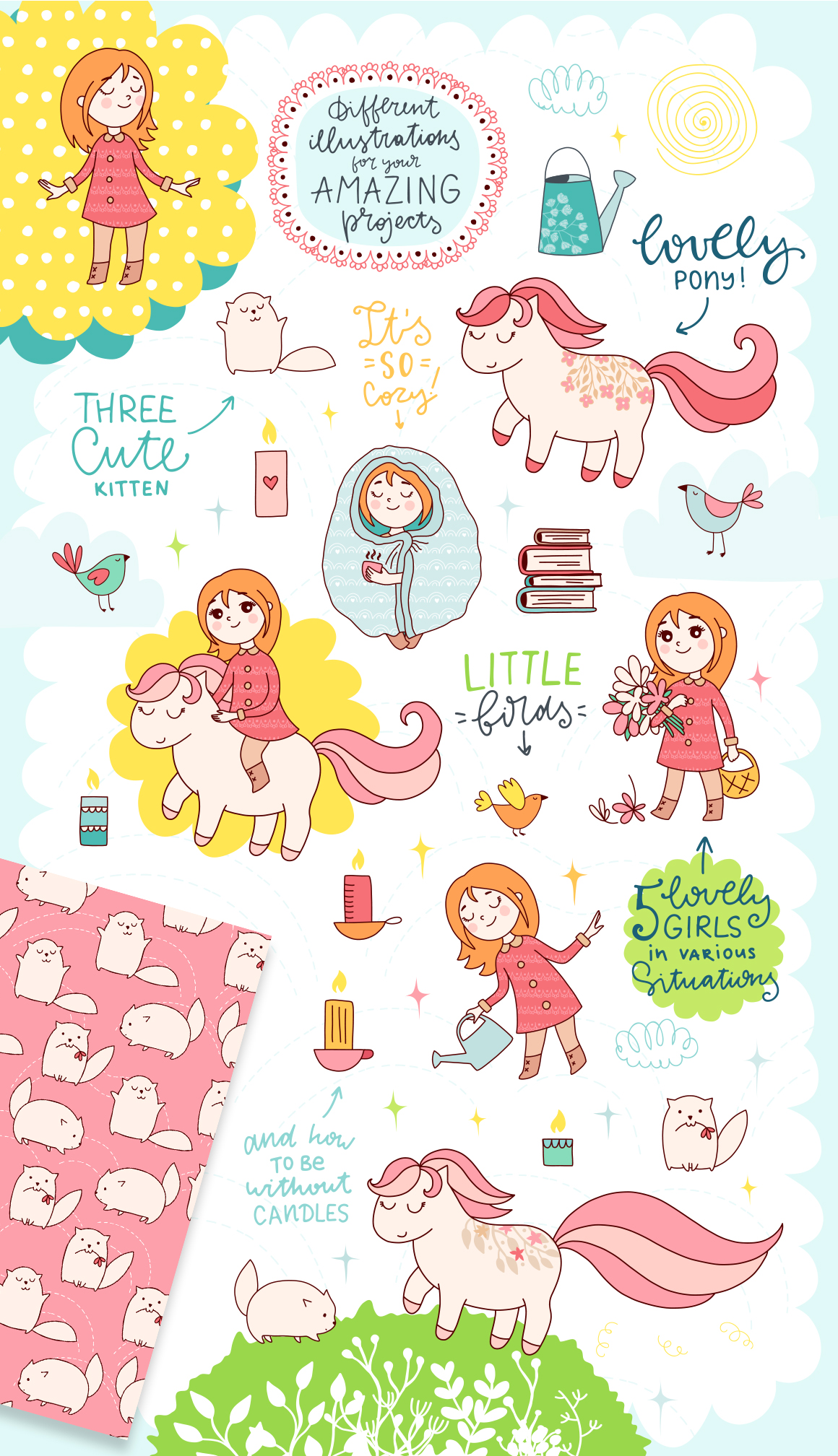 Spring is Here! Graphics & Patterns example image 18