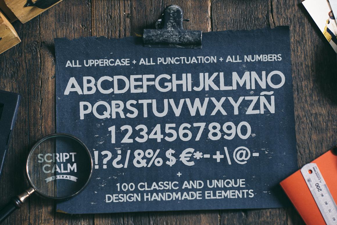 Script Calm + 100 Elements + Bonus example image 4