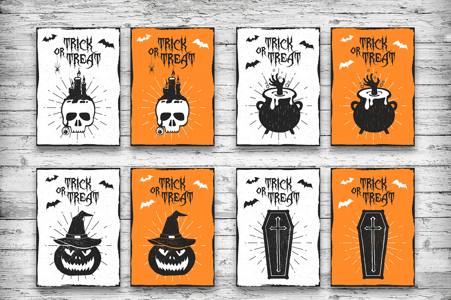 Halloween. 20 Greeting Cards example image 3
