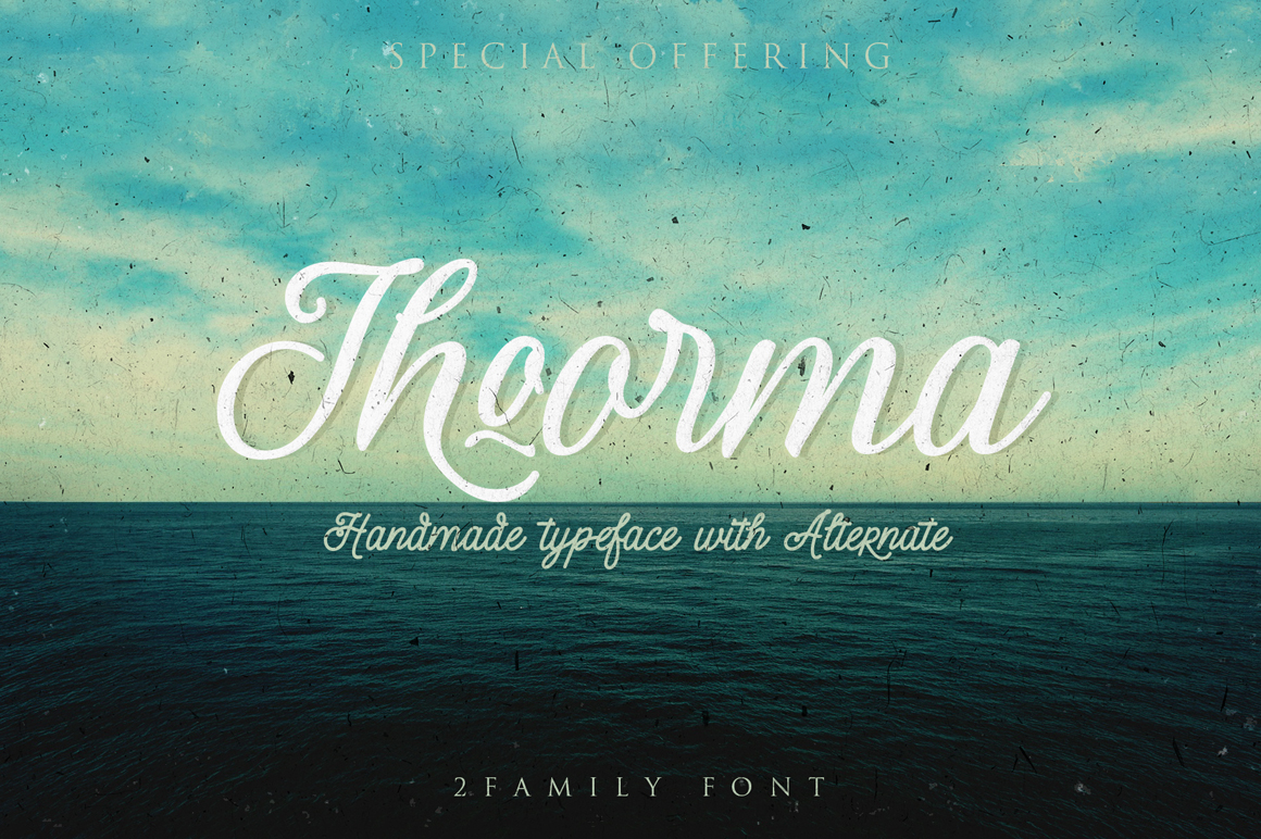 Thoorma 2 Family font example image 8