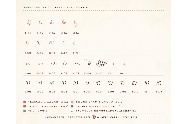 Samantha Script Italic example image 14