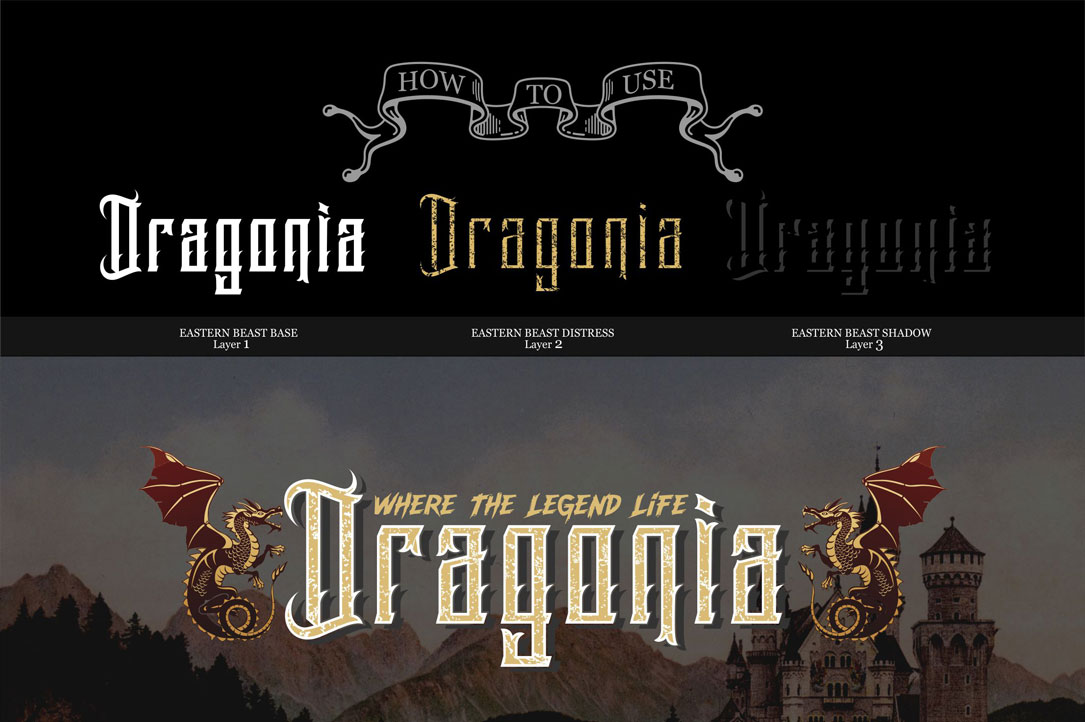 Eastern Beast Typeface example image 4
