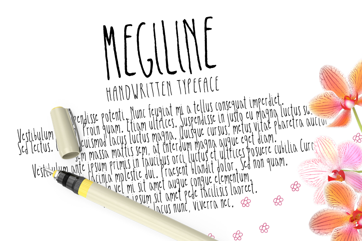 Megiline Typeface example image 3