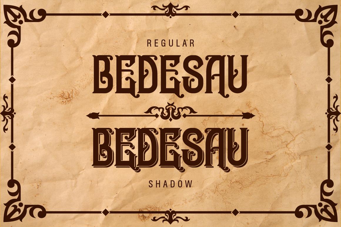 Bedesau Typeface example image 2