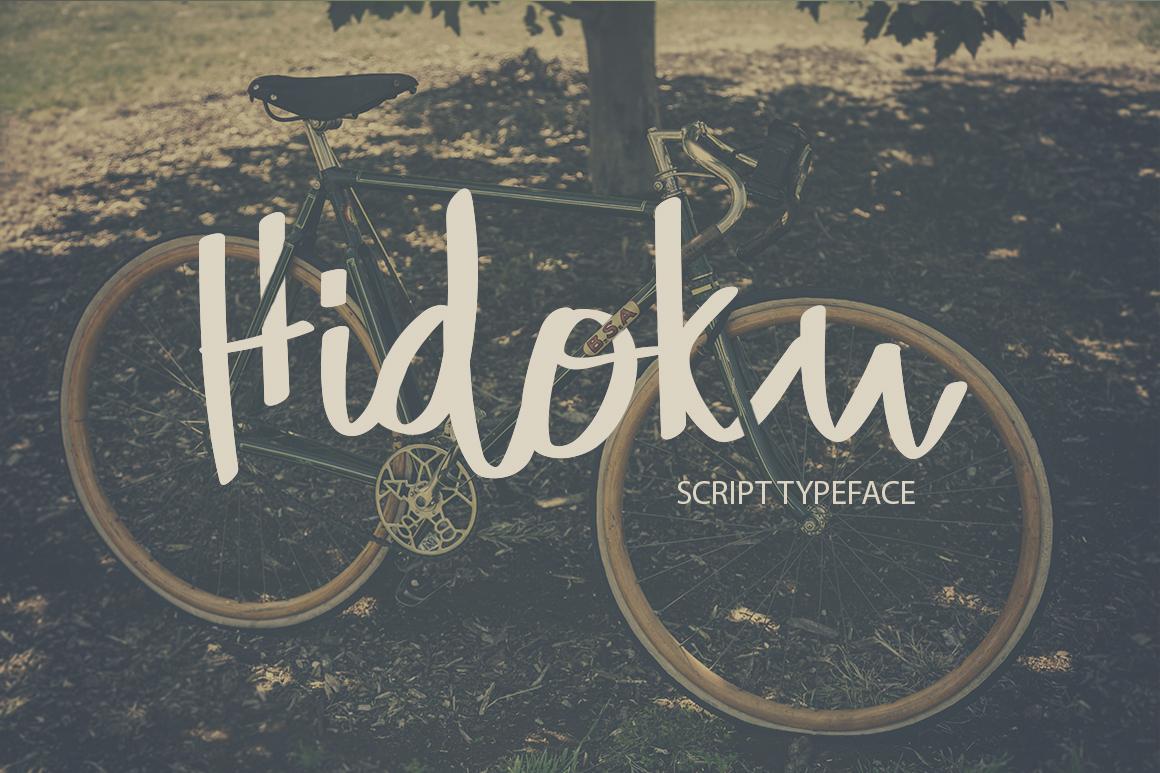 Hidoku Script Typeface example image 1