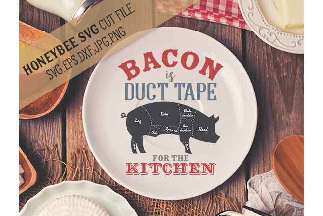 Bacon is Duct Tape svg example image 1
