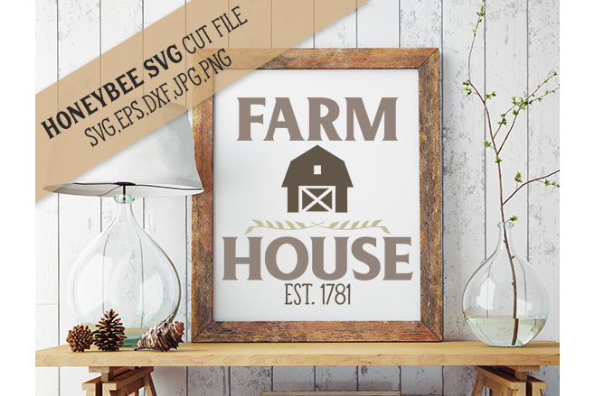 Farm House svg example image 1