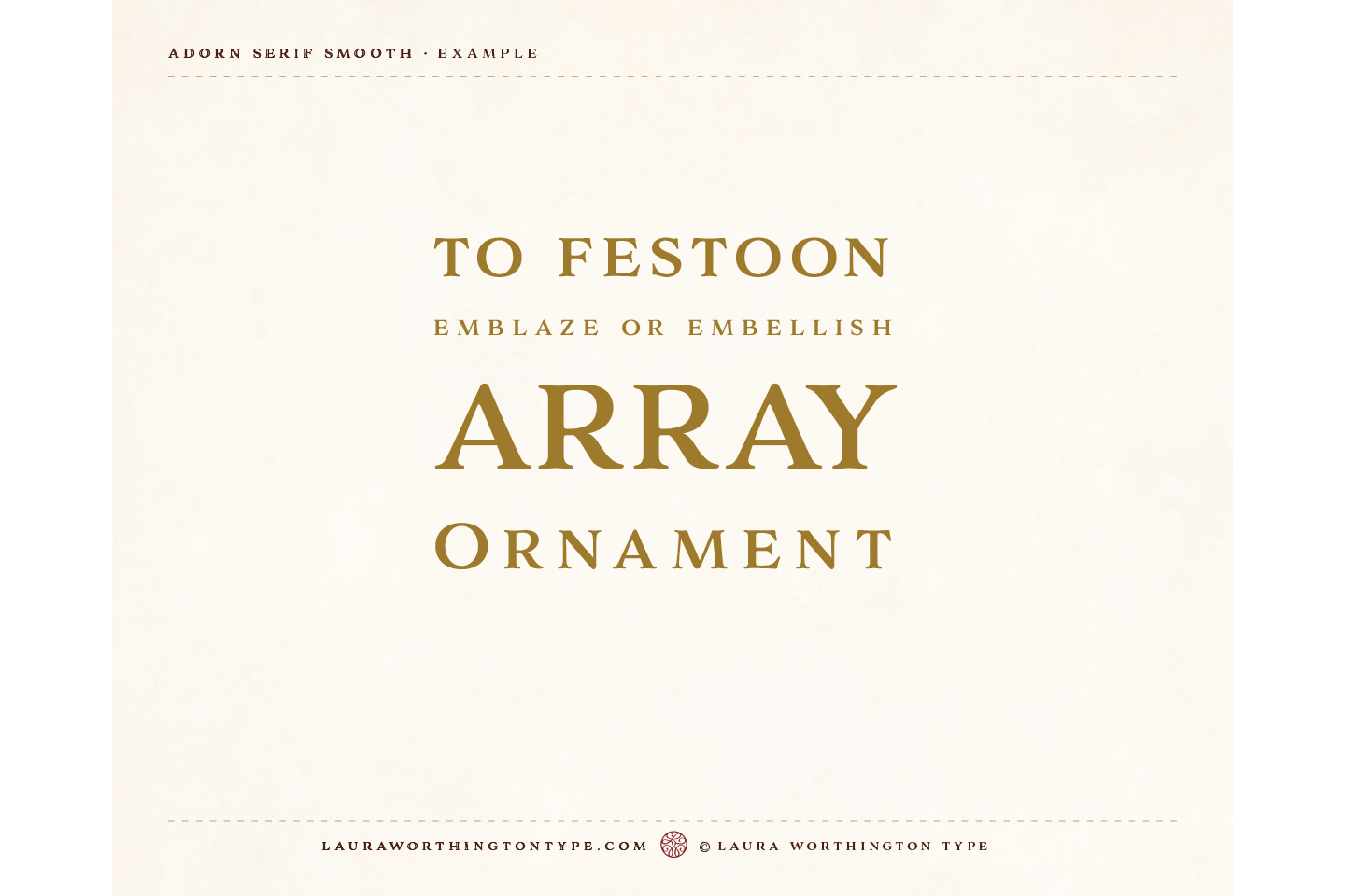 Adorn Smooth Serif example image 5