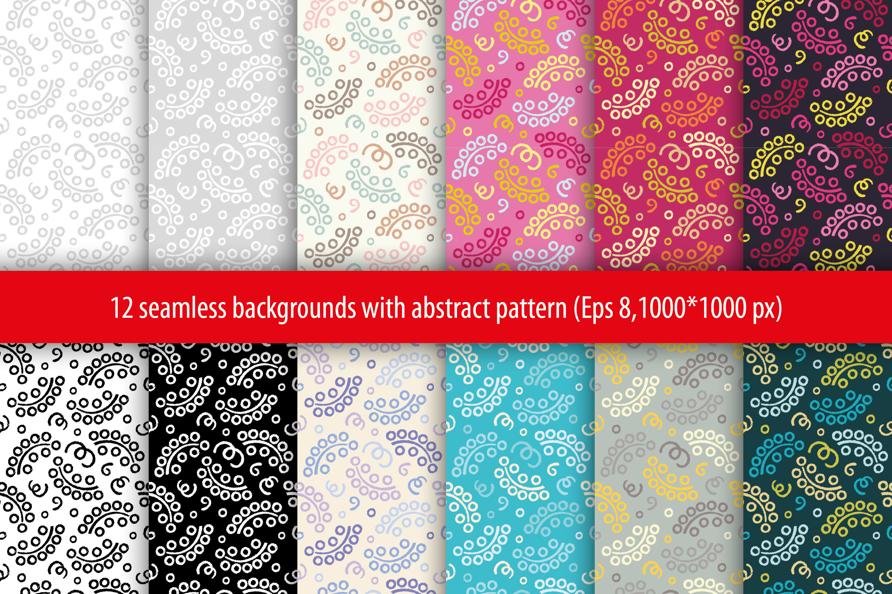 Set of 12 boho seamless vector backgrounds.  example image 15