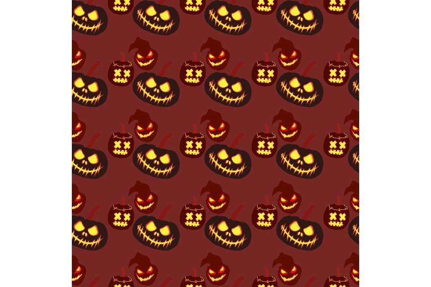 Set of 12 seamless vector backgrounds Happy Halloween.  example image 15