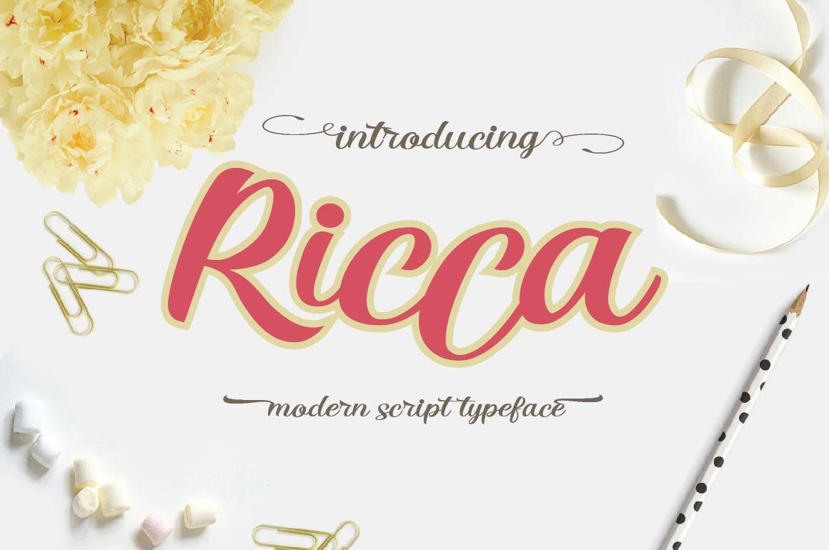 RICCA Script example image 1
