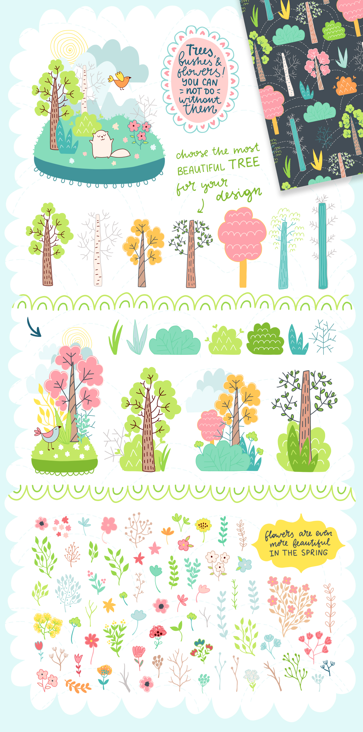Spring is Here! Graphics & Patterns example image 16