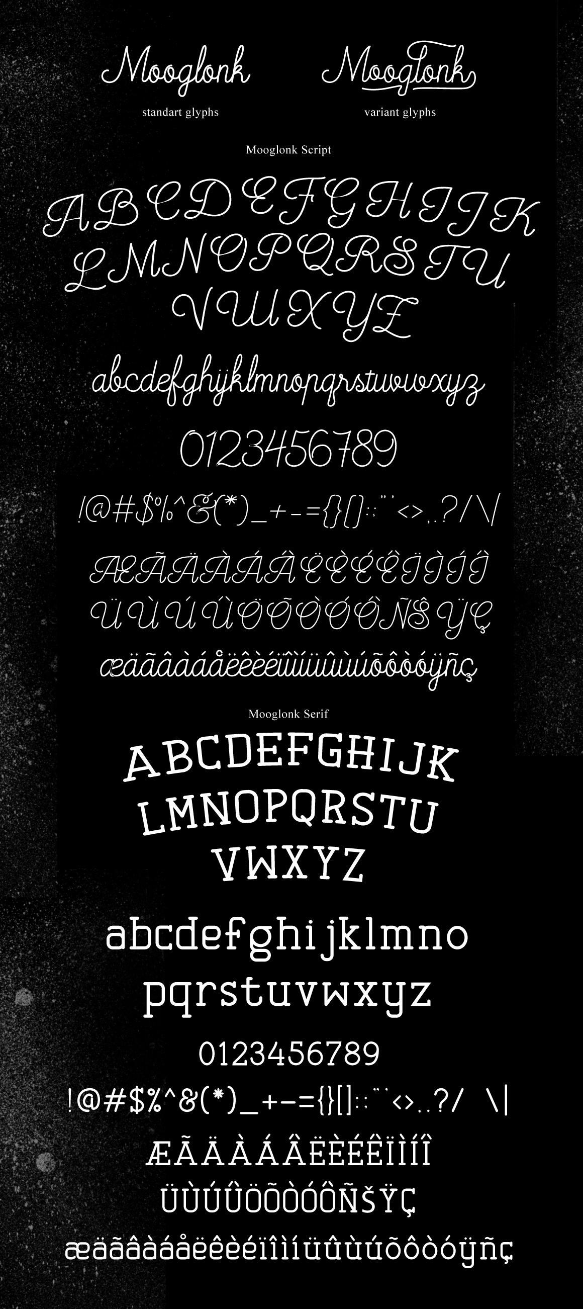 Mooglonk Font + Badges & Brush example image 5