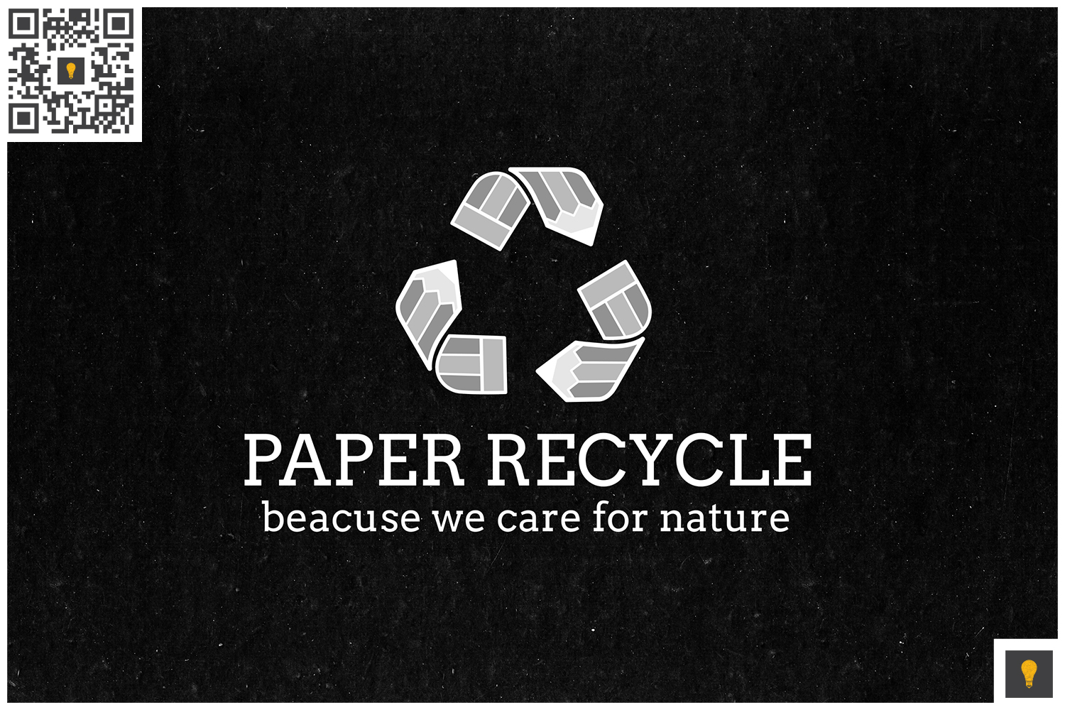 Paper Recycle Logo Grey