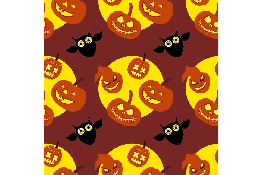 Set of 12 seamless vector backgrounds Happy Halloween.  example image 10