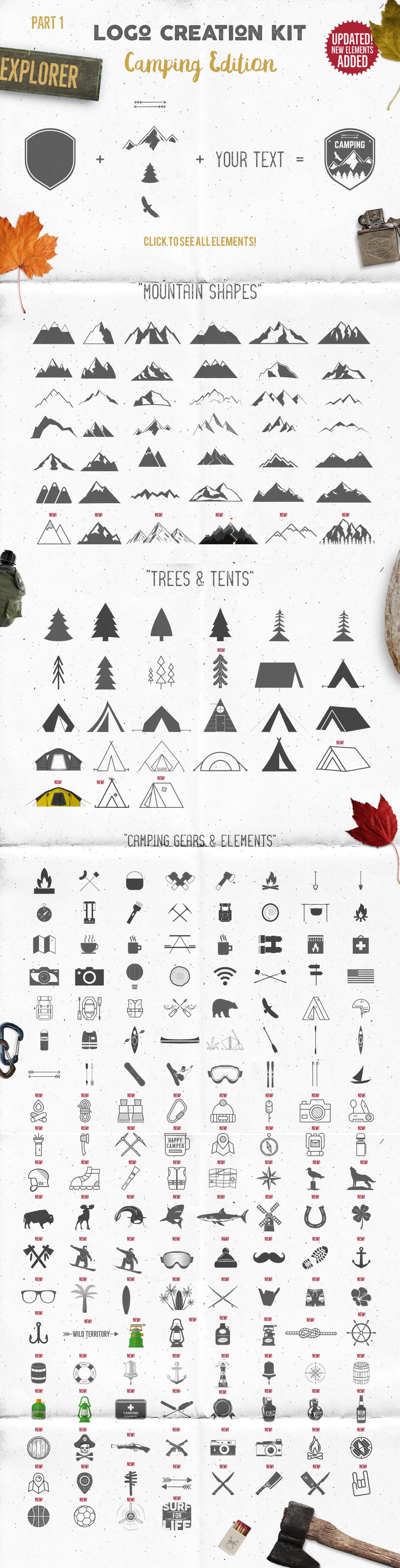 Logo Creation Kit - Camping Edition example image 18