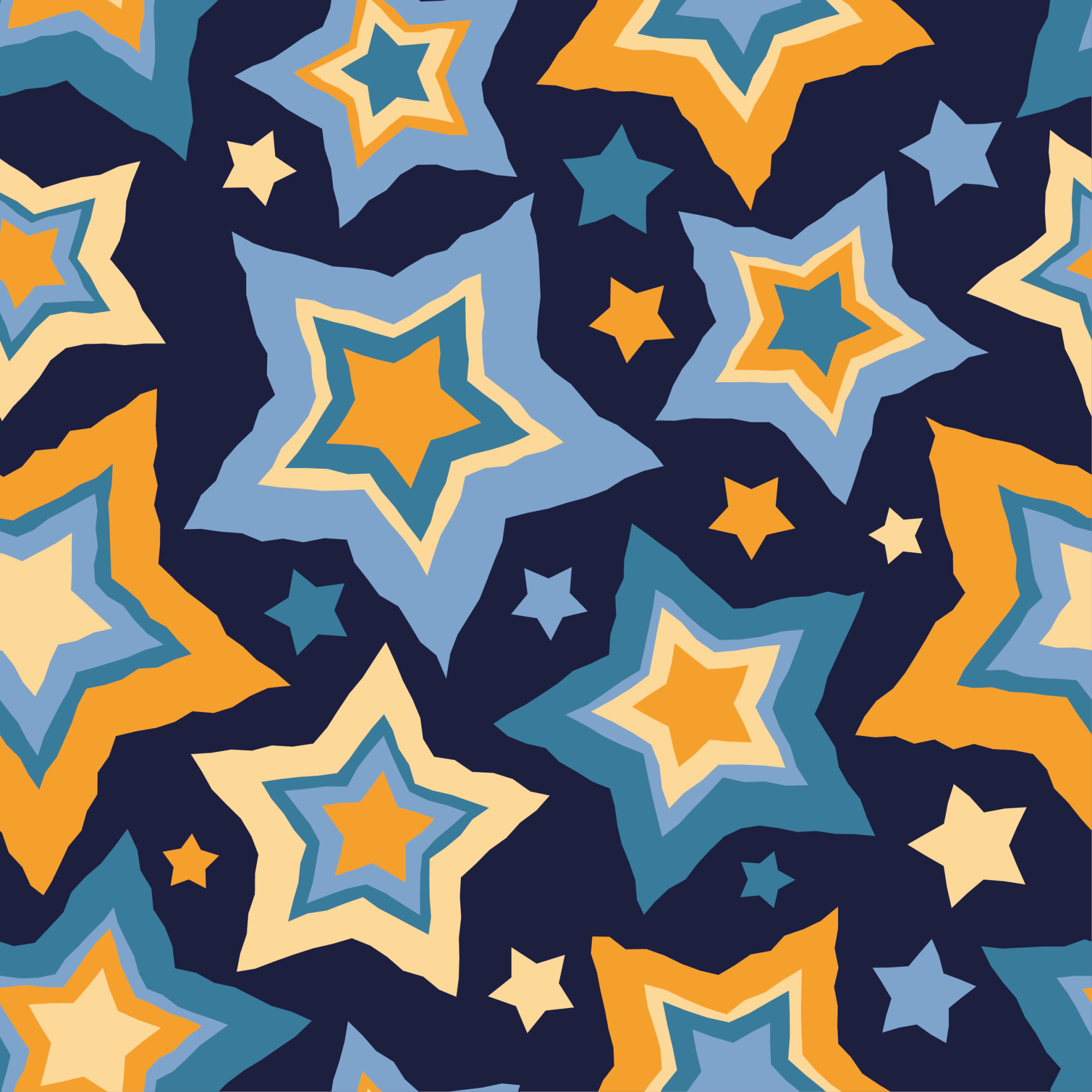Set of 12 seamless vector backgrounds with decorative stars.  example image 14