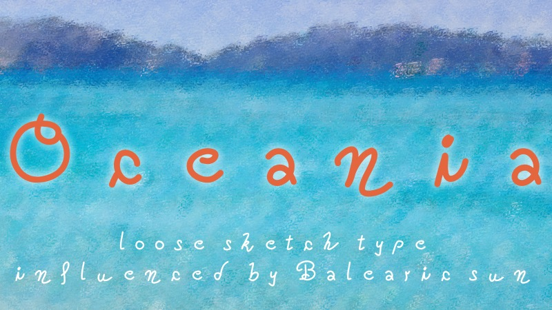 Oceania font example