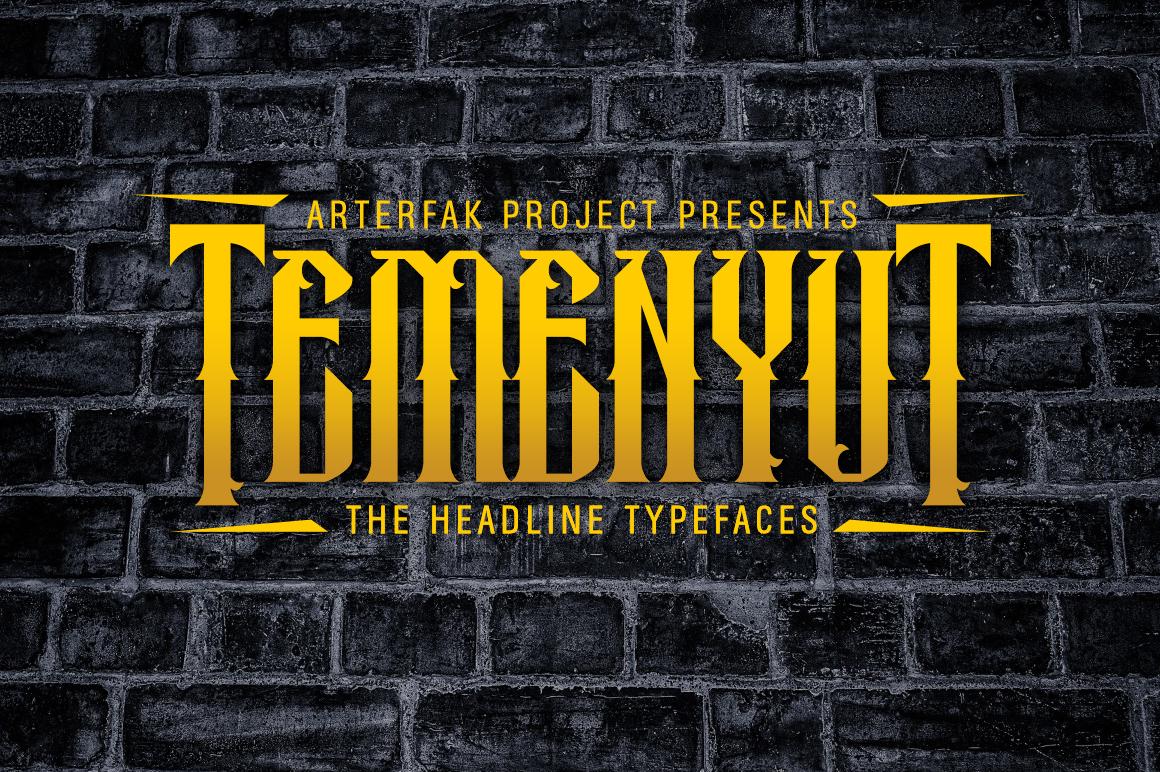 Temenyut Typeface example image 1